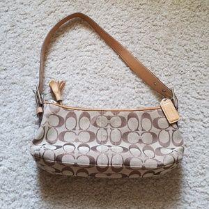 Coach brown/tan purse